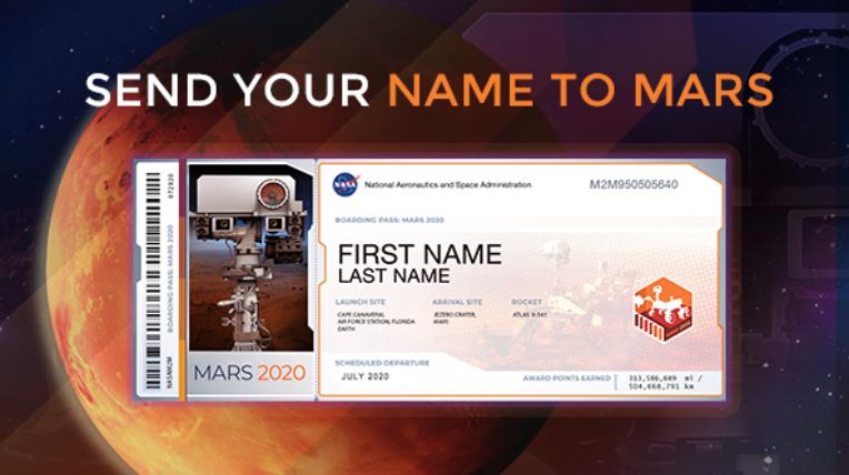 NASA主催の『火星に名前を送ろう』キャンペーンでバイリンガル子育てにおいての話題広げに♪