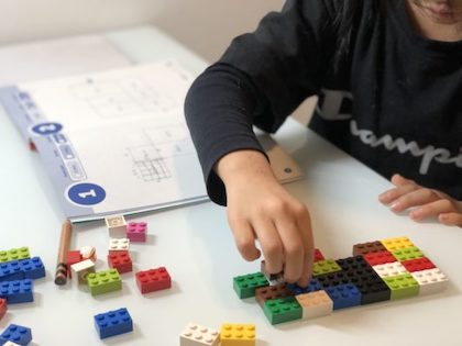 LEGO遊びから、こどものライティング力育てや図形の面積理解を日本語と英語でしたおうち英語なホームスクーリング