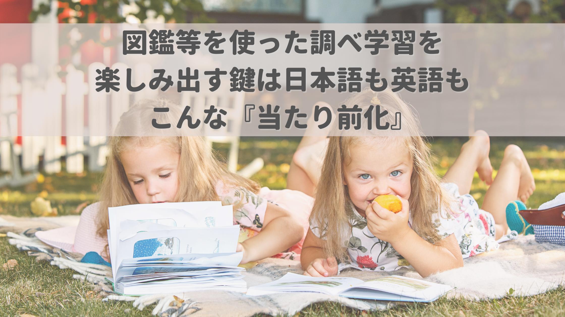 図鑑等を使った調べ学習を楽しみ出す鍵は日本語も英語もこんな『当たり前化』